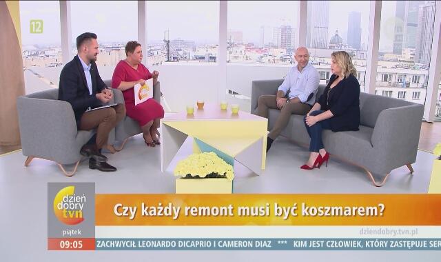 """Kasia Bosacka i Krzysztof Miruć w """"Dzień Dobry TVN"""" o remoncie"""